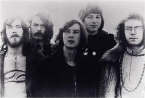 King Crimson 1969, L-to-R: Ian McDonald, Michael Giles, Pete Sinfield, Greg Lake, Robert Fripp.